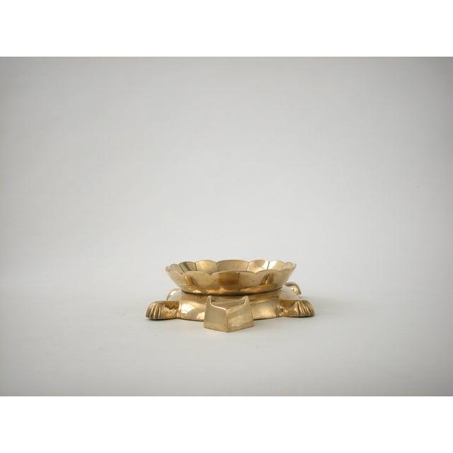 Vintage Brass Turtle Bowl - Image 4 of 8