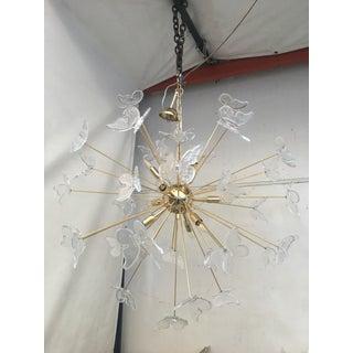 Italian Mid-Century Gold Murano Glass Butterfly Sputnik Chandelier Preview