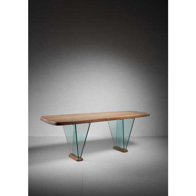 Robert Sentou Desk with Glass Legs For Sale - Image 6 of 6
