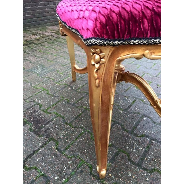 Bed Bench in Louis XVI Style with Gold Leaf - Image 4 of 6