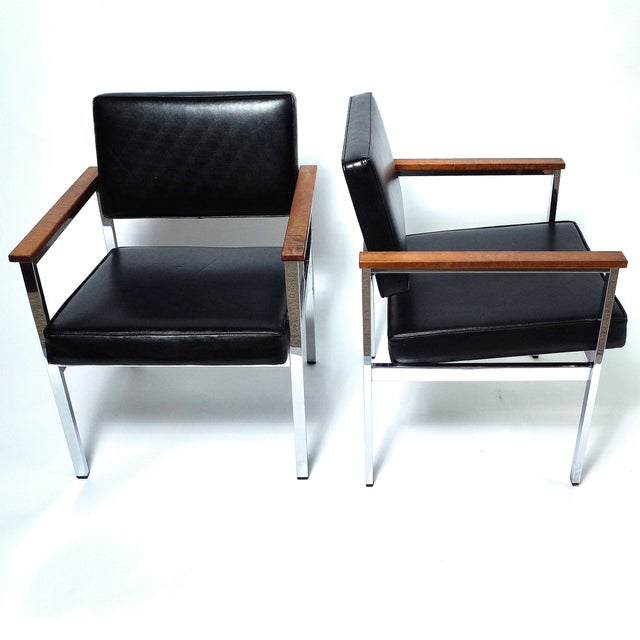 Knoll 900 Executive Art Metal Inc Chairs - a Pair - Image 4 of 7