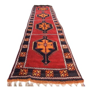 Vintage Antique Turkish Nomad Long Runner Rug - 3′4″ × 16′2″ For Sale