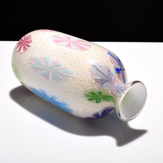 Sky Blue Vintage Dino Martens Pinwheel Design Vase, Provenance Lobel For Sale - Image 8 of 9
