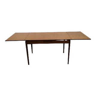 Mid-Century Modern Danish Design Extendable Draw Leaf Dining Table For Sale
