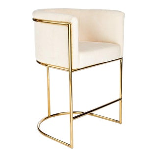 Mira Gold & Beige Counter Chair For Sale