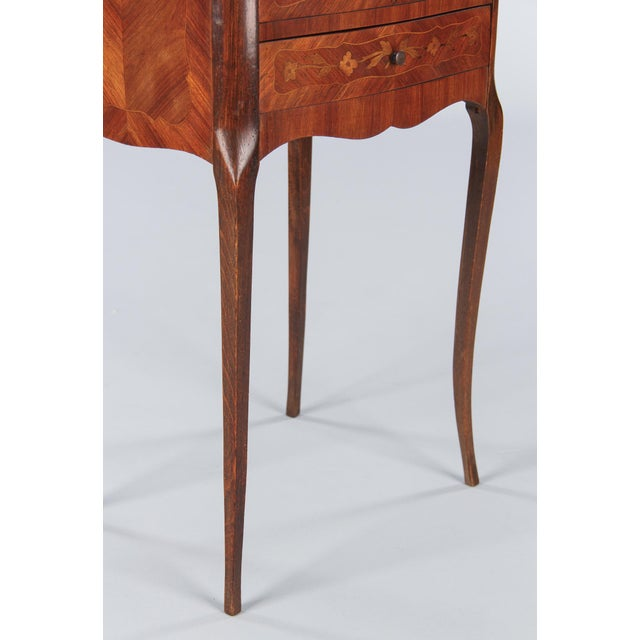 20th Century Louis XV Marquetry Bedside Chest of Drawers For Sale - Image 11 of 13