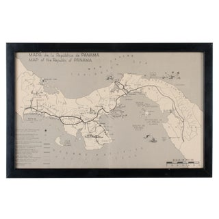 Vintage Framed Map of the Republic of Panama