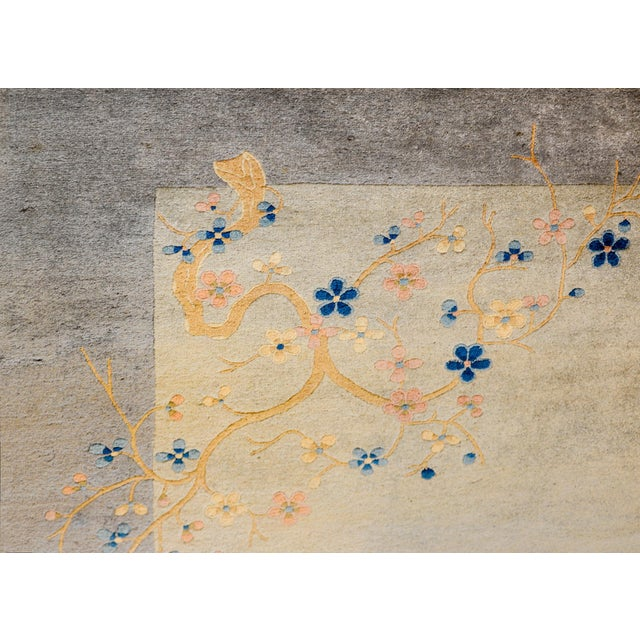 Serene Chinese Art Deco Rug For Sale - Image 4 of 9