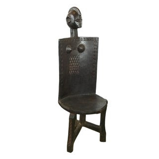"African 3-Legged Makonde Chair 49"" H Preview"