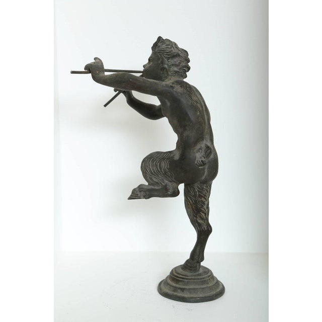 Mid 19th Century Rare Antique Bronze Sculpture of Pan the Mythological God For Sale - Image 5 of 9