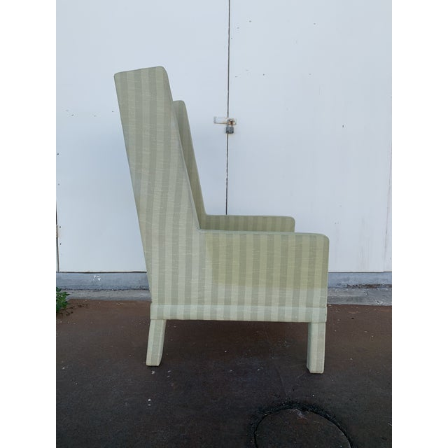 Parson's Chair With X -Base Ottoman For Sale - Image 9 of 11