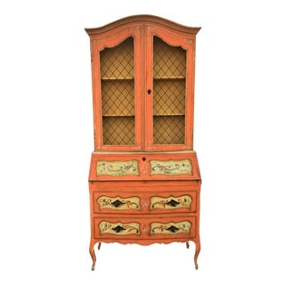 Italian Hand Painted Secretary For Sale