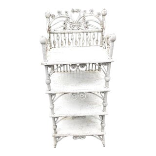 Late 19th Century Victorian Wicker Etagere For Sale