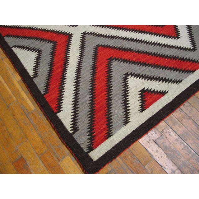 Navajo Red Navajo Style Wool Rug - 8′ × 10′ For Sale - Image 3 of 5