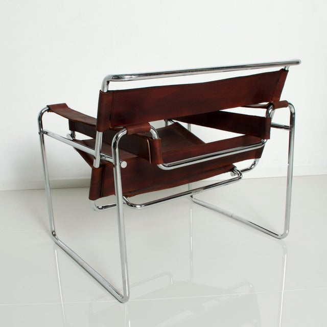 Metal Pair of Marcel Breuer Wassily Chairs for Gavina, Mid Century Modern Italy For Sale - Image 7 of 11