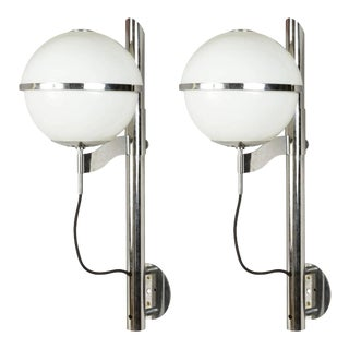 Mid 20th Century Vintage Globe Sconces by Sergio Mazza - a Pair For Sale