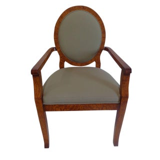 Josef Hoffman Style Olivewood Arm Chair by William Switzer For Sale