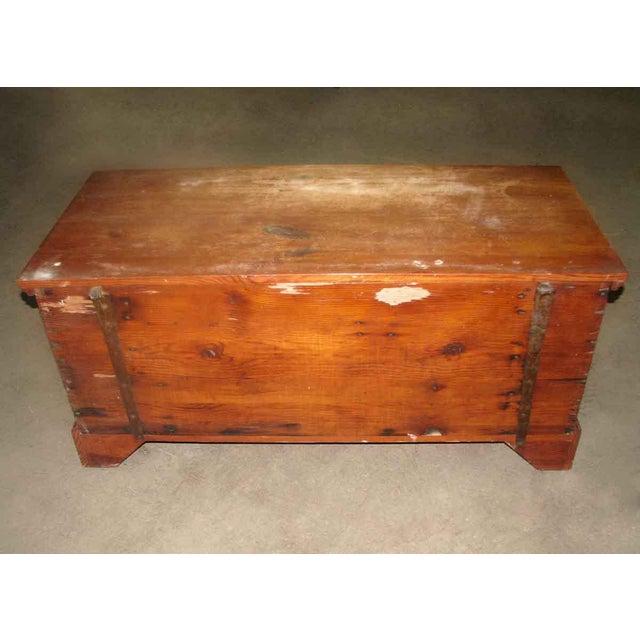 Primitive Antique Pine Chest For Sale - Image 4 of 8