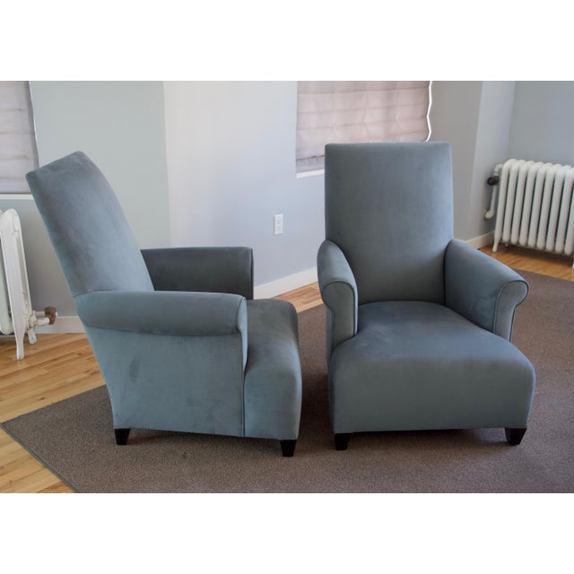 Donghia Club Chairs Set 2 For Sale - Image 9 of 13