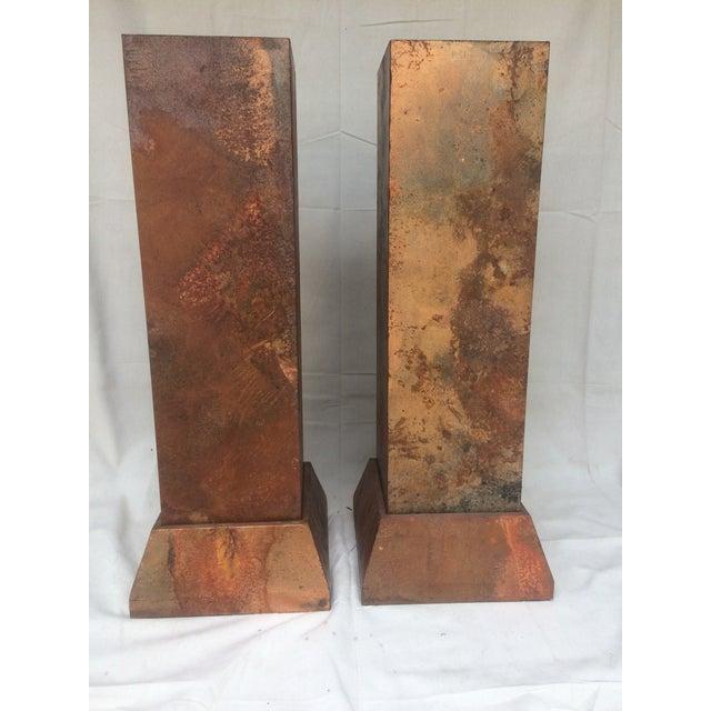 Faux Copper Finish Pedestals - Image 2 of 5