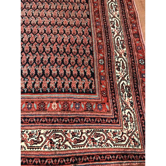 Antique Persian Seraband Gallery Carpet - Image 4 of 4