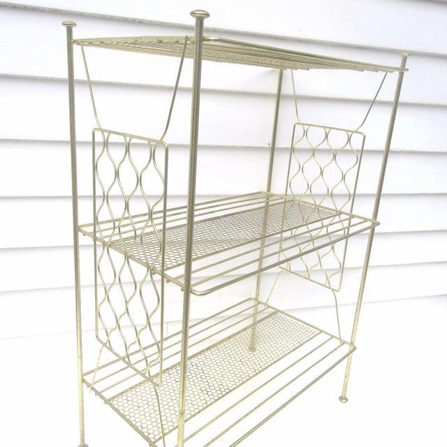 Vintage Metallic Brass Display Shelf - Image 4 of 8