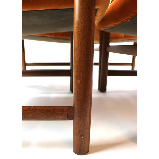 Mid 20th Century Set of 6 Rosewood Frame Dining Chairs by Baughman For Sale - Image 5 of 13