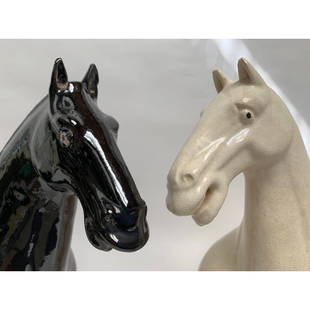 Figurative 1980s Gump's San Francisco Oversized Terra Cotta Tang Dynasty Style Horses - a Pair For Sale - Image 3 of 13