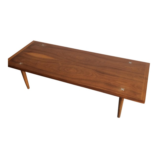 Mid-Century Modern Walnut Coffee Table by American Of Martinsville - Image 1 of 5