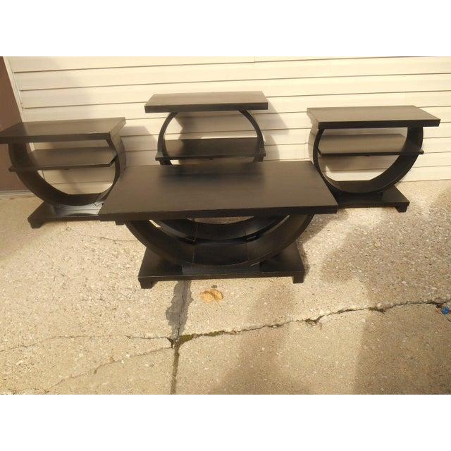 Vintage Brown Saltman Side Tables / End Tables - Set of 2 - Image 4 of 7