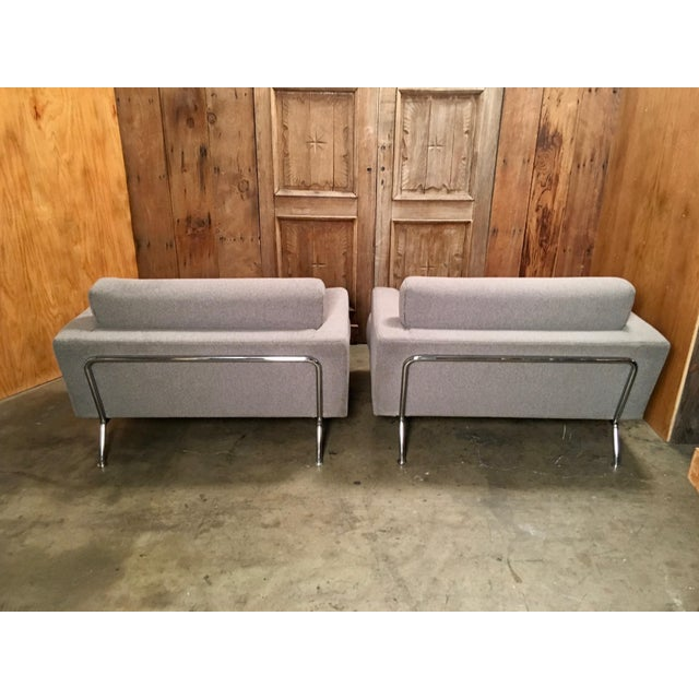 "Modern Late 20th Century Piero Lissoni for Cassina ""253 Nest"" Chairs- a Pair For Sale - Image 3 of 13"