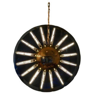 1980s Italian Saturno Glass Modern Pendant For Sale