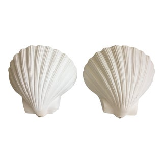 Plaster Shell Sconces - a Pair