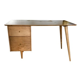 1970s Mid-Century Modern Paul McCobb Maple Desk For Sale