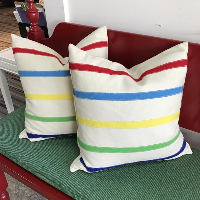 Hudson Bay Style Down Pillows - A Pair - Image 2 of 4