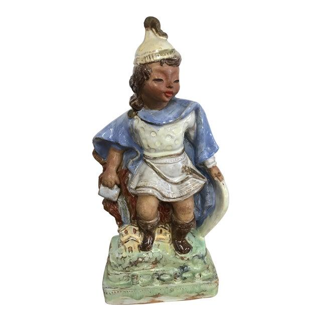 Austrian Secessionist Terracotta Figure Signed For Sale