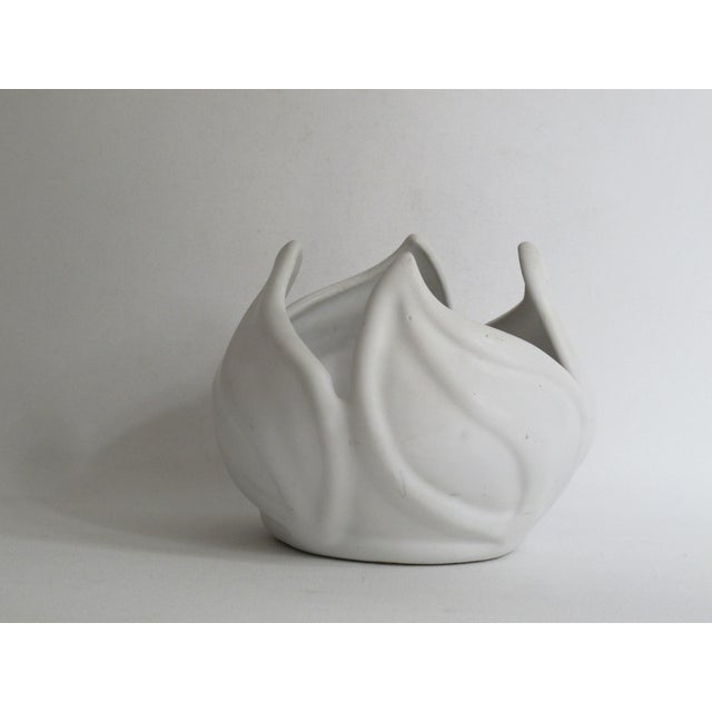 Van Briggle White Ceramic Vessel For Sale - Image 4 of 7