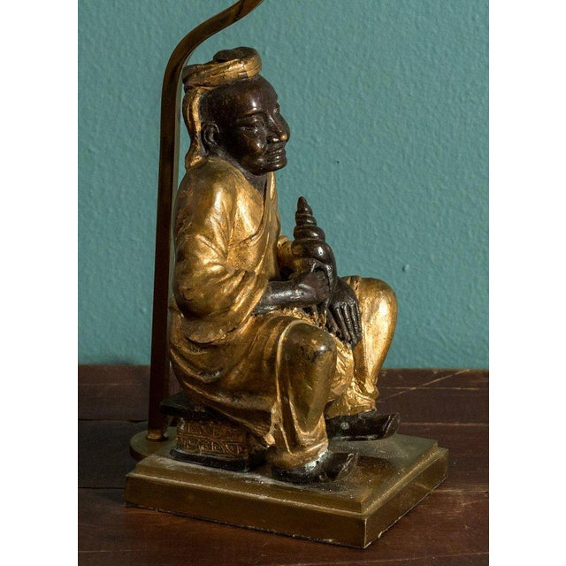 Bronze Figural Table Lamp For Sale - Image 4 of 5