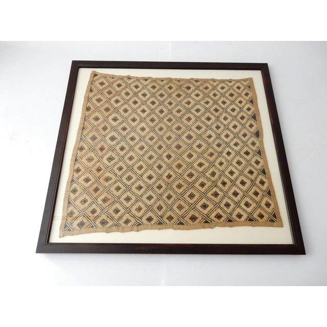 Vintage Framed African Kuba Cloth For Sale - Image 4 of 9