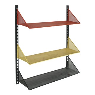 1950s Mathieu Mategot Wall Shelf With Adjustable Shelves For Sale