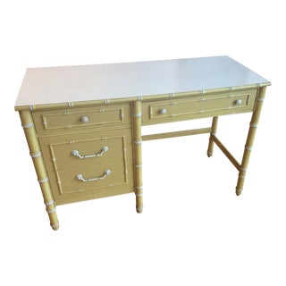 Thomasville Vintage Faux Bamboo Desk For Sale