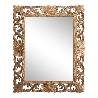 19th Century Florentine Carved Giltwood Mirror For Sale