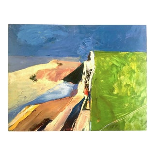 "Richard Diebenkorn Abstract Expressionist Lithograph Print Museum Poster "" Seawall "" 1957 For Sale"