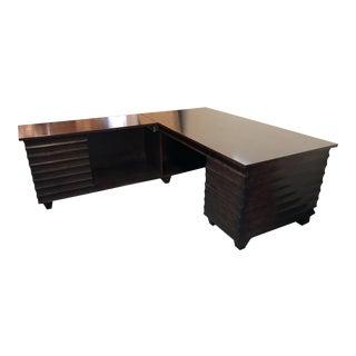 Custom Modern Alderwood 2 Pc. Desk