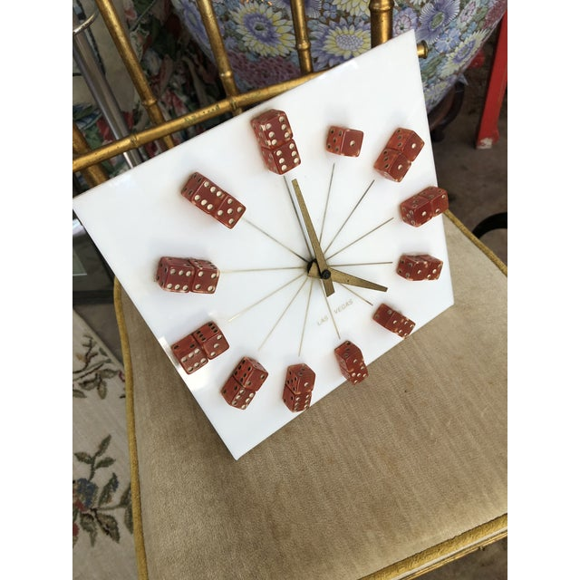Fantastic 1960s dice clock. A true mid Century treasure! Works great, battery operated. A great addition for your home or...