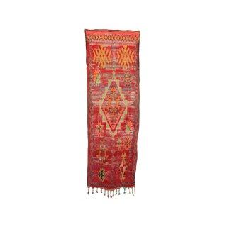 """Boujad Vintage Moroccan Rug, 3'1"""" X 9'7"""" Feet"""