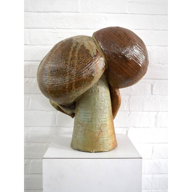 Ceramic Abstract Stoneware Sculpture For Sale - Image 7 of 9