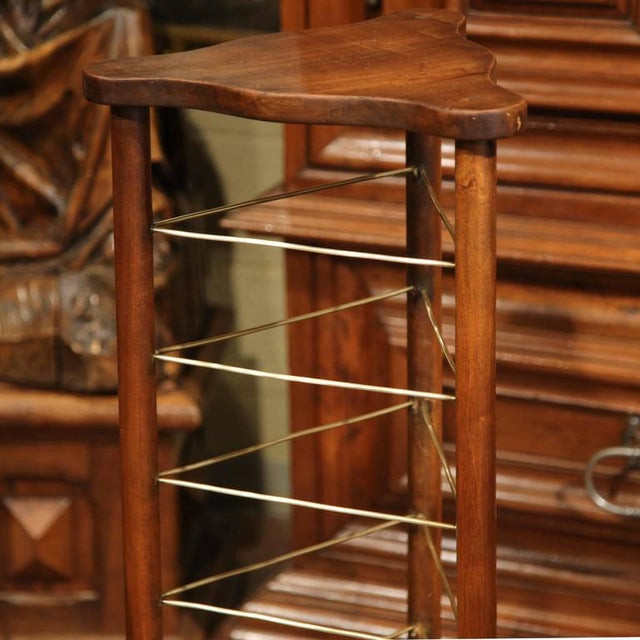 19th Century French Louis Philippe Walnut Plate Rack For Sale In Dallas - Image 6 of 9