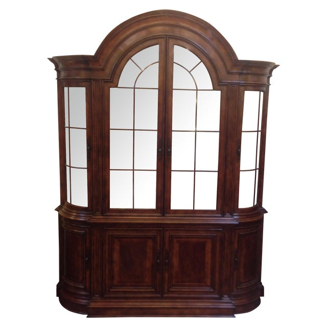 Arched Sideboard With Lighted Hutch - Image 1 of 9