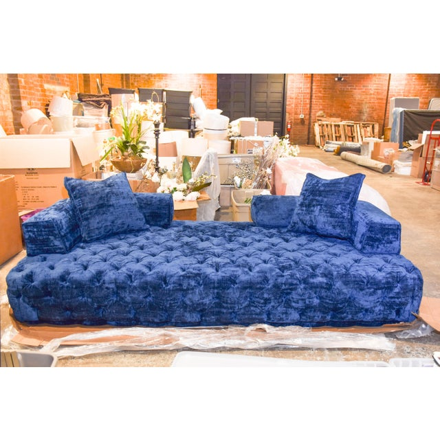 This custom sofa is a brand-new, never used sofa from Nathan Anthony (model: Cielo), made and manufactured in the United...
